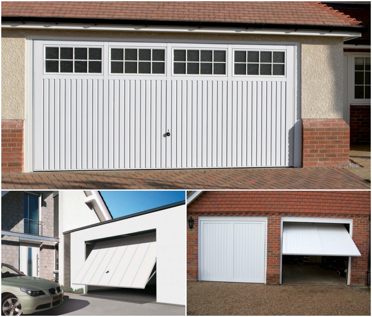 3 Up and over garage door examples
